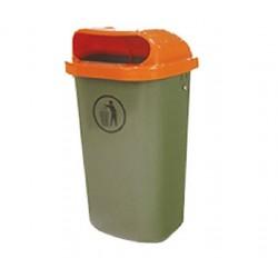 Papelera exterior plástico Jcoplastic 50L