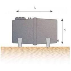 Depósito-Cuba para agua potable horizontal para superficie DCHS 8000