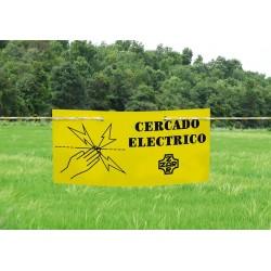 Cartel indicador de cerca eléctrica