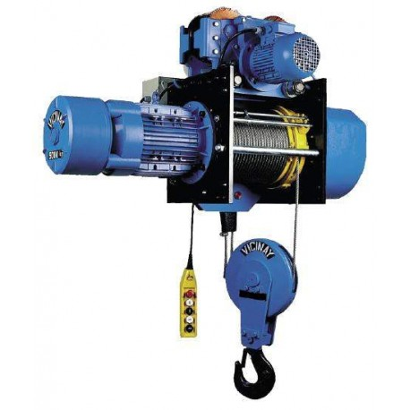 Polipasto eléctrico de cable EUROBLOC C.16.6.N.2/1 con carro eléctrico 1600Kg