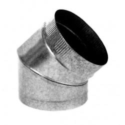 Codo Estufa Galvan 0.8 mm 45º 200 mm