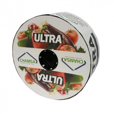 Manguera plana con gotero integrado cinta/tape Chamsa Ultra 30cm 1,6l/h 16mm